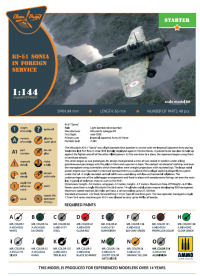 Самолет Ki-51 Sonia (2 шт. в наборе). ВВС иностранных государств. Starter kit