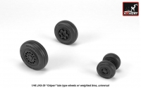 """JAS-39 """"Gripen"""" wheels w/ weighted tires, late"""