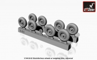 Boeing B-52 wheels, weighted