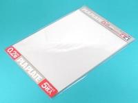 Пластиковые листы (прозрачные) толщиной 0,2мм (5шт.) полистирин 36,4 х 25,7см
