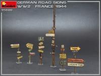 Немецкие дорожные знаки WWII (Франция, 1944 г.)