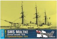 """Германский корвет SMS """"Moltke"""", 1878 г."""