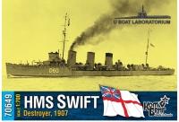 """Английский миноносец HMS """"Swift"""", 1907 г."""