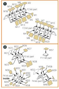 Маска для окрашивания самолета для Ki-51 Sonia всех версий
