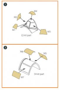 Маска для окрашивания самолета Ла-5 поздней версии
