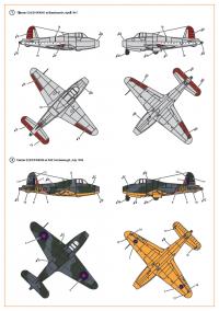 Декаль для самолета Gloster E28/39 Pioneer