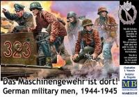 Das Maschinengewehr ist dort! German military men, 1944-1945