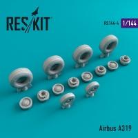 Airbus A319 смоляные колеса