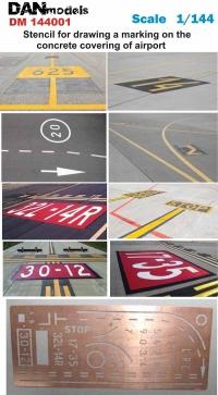 Трафарет для нанесения разметки на бетонке аэропорта