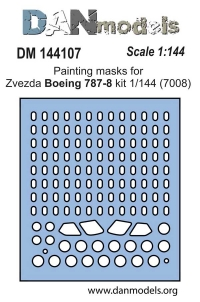 Маска для модели самолета Боинг 787-8