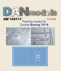 Маска для модели самолета Боинг 747-8