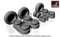 "Hawker-Siddeley ""Harrier"" GR.1/GR.3/FRS.1/AV-8A wheels, weighted"