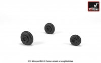 Mikoyan MiG-19 Farmer wheels w/ weighted tires