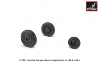 """EE """"Lightning-II"""" wheels w/ weighted tires, late"""