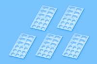Набор пластиковых палитр для красок (5 штук)