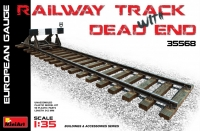 Железнодорожные рельсы с тупиком (европейская колея)