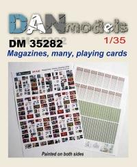 Журналы, деньги, игральные карты