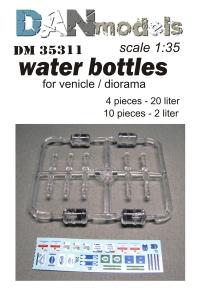 Набор ПЭТ-бутылок для диорам(14 шт.) + декаль