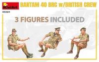 Британский джип BANTAM 40 BRC с экипажем