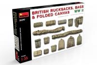 Британские рюкзаки, сумки и сложенный брезент WWII