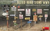 Дорожные знаки союзников, WWII. Европейский ТВД