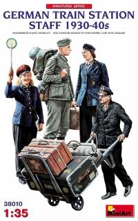 Персонал немецкой железнодорожной станции 1930-40 гг.