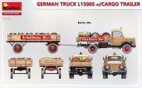 L1500S 1,5-т. немецкий грузовик с грузовым прицепом