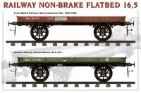 Железнодорожная бестормозная платформа 16,5т.