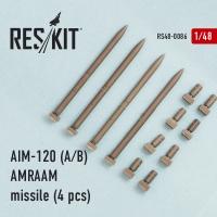 AIM-120 (A/B) AMRAAM missile (4 шт.) (F-15A/C/D/E, F-16A/C, F/A-18A/C)