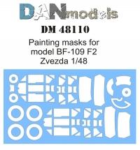 "Маска для модели самолета BF-109 F2 (""Звезда"" 4802)"