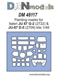 Маска для модели самолета JU 87 G-2 / JU-87 D-5