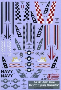 "Декаль F/A-18F Super Hornet VFA-211 ""Fighting Checkmates"""