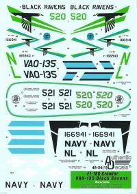 "Декаль EA-18G Growler VAQ-135 ""Black Ravens"""