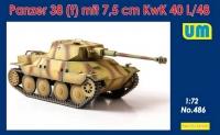 Немецкий легкий танк Panzer 38 (t) 7.5 cm KwK 40 l/48