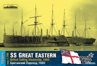 "Британский пароход SS ""Great Eastern"", 1860 г. Полный корпус."