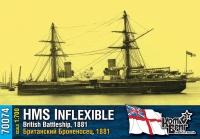 "Британский броненосец HMS ""Inflexible"", 1881 г."