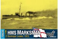 """Британский лидер эскадренных миноносцев HMS """"Marksman"""", 1915"""
