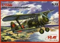 Советский истребитель-биплан WWII И-15 бис