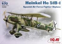 Истребитель-биплан ВВС Испании Хейнкель Не-51 В-1