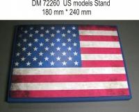 Подставка для модели (тема США - подложка фото флага)