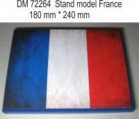 Подставка для модели (тема Франция - подложка фото флага)