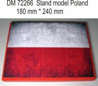 Подставка для модели (тема Польша - подложка фото флага)