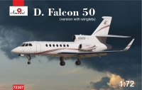 Реактивный пассажирский самолет Dassault Falcon 50 с загнутой законцовкой крыла