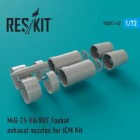 MiG-25 RB, RBT, BM, RBK, RBF, RBSh Foxbat сопла для набора ICM Kit