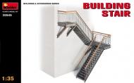 Металлическая лестница, два пролета