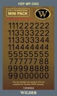 Немецкие номера для наземной техники. Сет 2.1 Сплошные, чёрные, высота 310 мм.