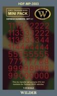 Немецкие номера для наземной техники. Сет 3.1 Сплошные, красные, высота 310 мм.