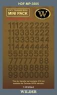 Немецкие номера для наземной техники. Сет 2.2 Контурные, чёрные, высота 310 мм.