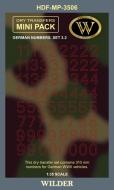 Немецкие номера для наземной техники. Сет 3.2 Контурные, красные, высота 310 мм.