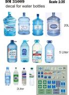 Декаль этикетки на бутылки с водой